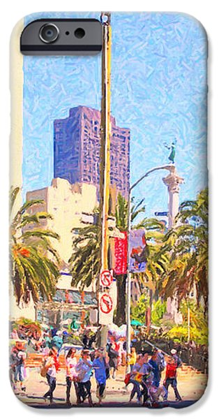 San Francisco Union Square iPhone Case by Wingsdomain Art and Photography