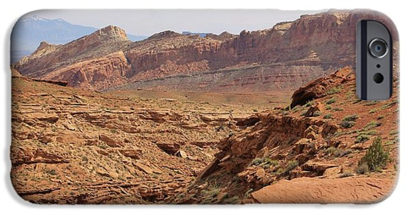 Slickrock iPhone Cases - San Rafael Swell 2 iPhone Case by Tonya Hance