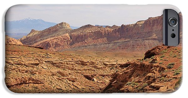 Slickrock iPhone Cases - San Rafael Swell iPhone Case by Tonya Hance