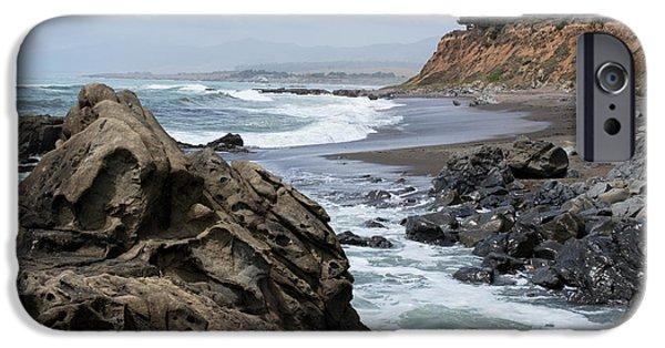 Cambria iPhone Cases - San Simeon CA Coastal I iPhone Case by David Gordon