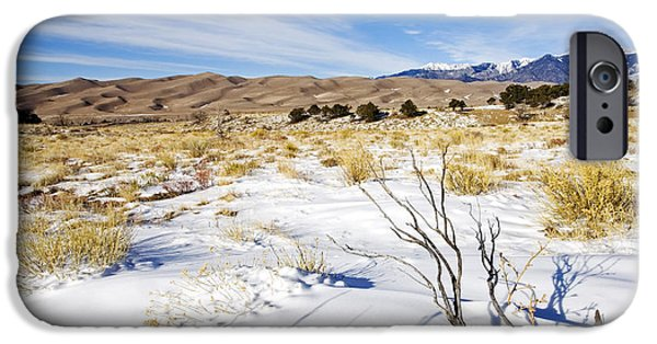 Snow iPhone Cases - Sand and Snow iPhone Case by Mike  Dawson