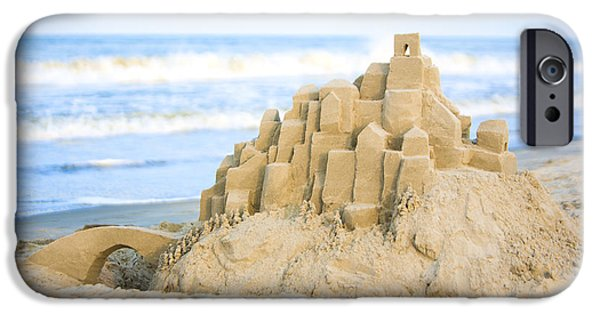 Sand Castles iPhone Cases - Sand Castle iPhone Case by Diane Diederich