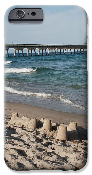 Sand Castles Digital Art iPhone Cases - Sand Castles And Piers iPhone Case by Rob Hans