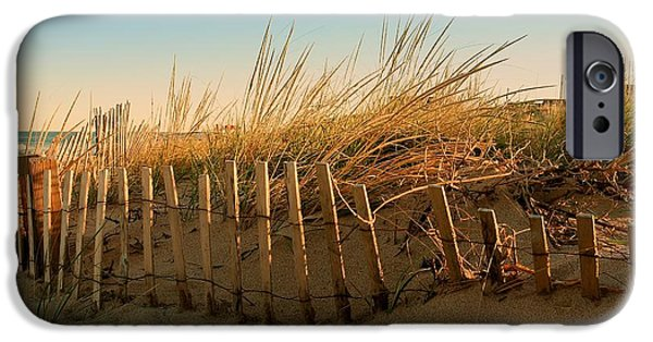 Bay Head Beach iPhone Cases - Sand Dune in Late September - Jersey Shore iPhone Case by Angie Tirado
