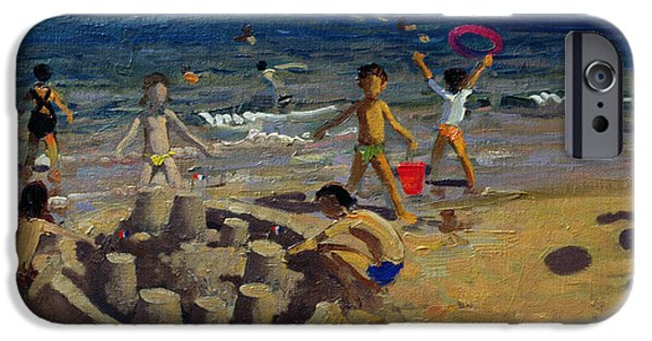 Sandcastles iPhone Cases - Sandcastle iPhone Case by Andrew Macara