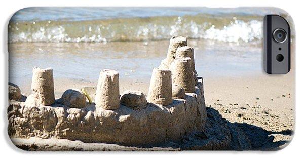 Sand Castles iPhone Cases - Sandcastle  iPhone Case by Lisa Knechtel