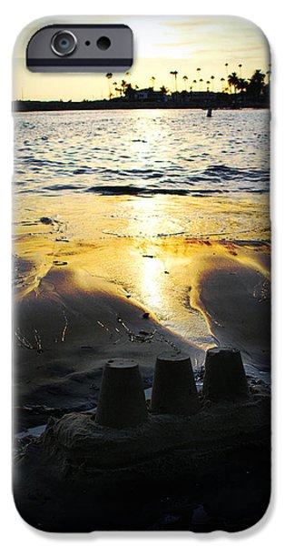 Sandcastles iPhone Cases - Sandcastle Sunset iPhone Case by Ariane Moshayedi