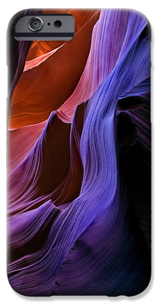 Sandstone iPhone Cases - Sandstone Cascade iPhone Case by Mike  Dawson