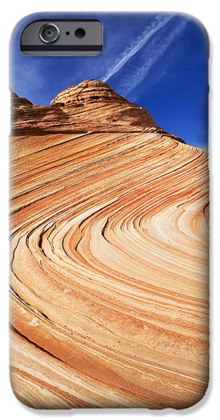 Red Rock iPhone Cases - Sandstone Slide iPhone Case by Mike  Dawson