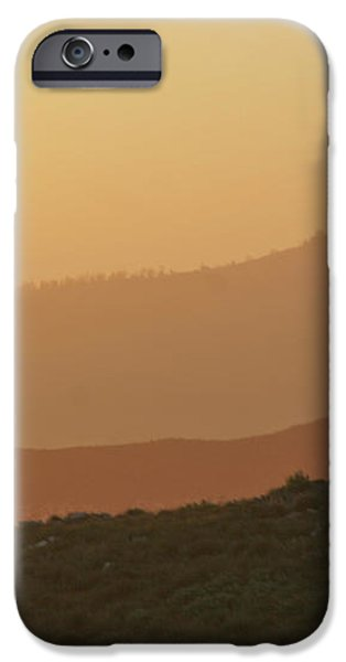 Sandstorm during Sunset on Old Highway Route 80 iPhone Case by Christine Till