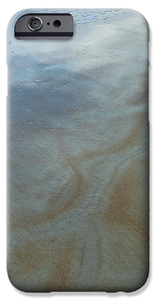 Sandy Beach Abstract iPhone Case by Carolyn Marshall