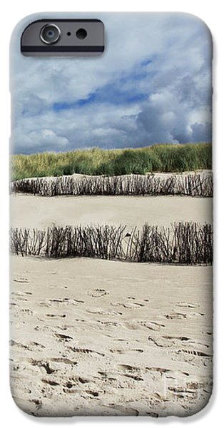 North Sea iPhone Cases - Sandy Beach iPhone Case by Steffi Louis