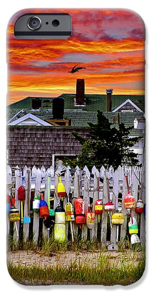 Cape Cod iPhone Cases - Sandy Neck Sunset iPhone Case by Charles Harden