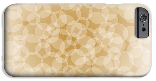 Irregular iPhone Cases - Sanguine Abstract Circles iPhone Case by Frank Tschakert