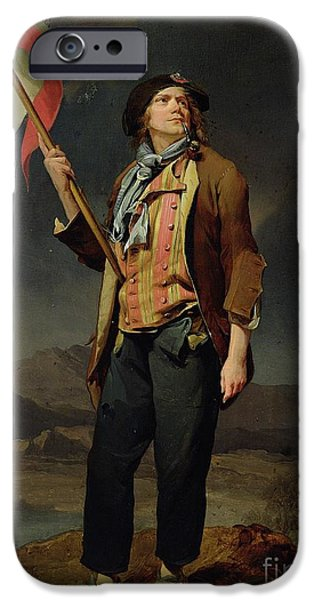 Liberty Paintings iPhone Cases - Sans Culotte iPhone Case by Louis Leopold Boilly