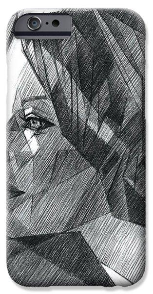 Het Paintings iPhone Cases - Sans titre - 06-05-15 iPhone Case by Corne Akkers