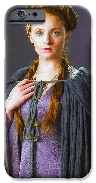 Celebrities Art iPhone Cases - Sansa Stark I - Game Of Thrones iPhone Case by Nikola Durdevic