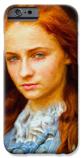 Celebrities Art iPhone Cases - Sansa Stark II - Game Of Thrones iPhone Case by Nikola Durdevic