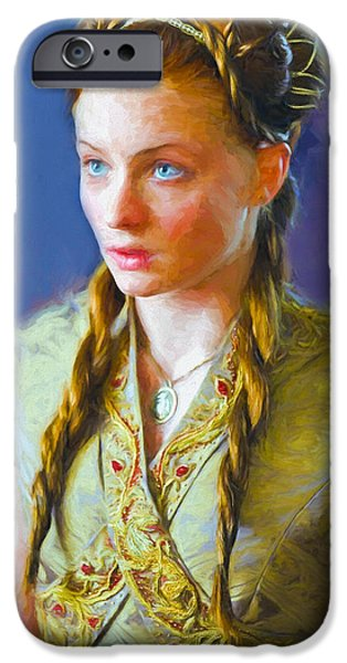 Celebrities Art iPhone Cases - Sansa Stark III - Game Of Thrones iPhone Case by Nikola Durdevic