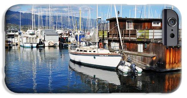Boat iPhone Cases - Santa Barbara Harbor iPhone Case by Kyle Hanson