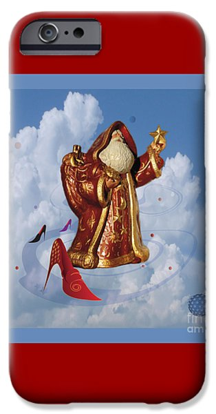 Night Angel iPhone Cases - Santa Claus 10 iPhone Case by Johannes Murat