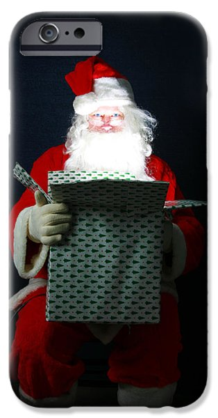 Miracle iPhone Cases - Santa Claus has Christmas Magic for all iPhone Case by Michael Ledray