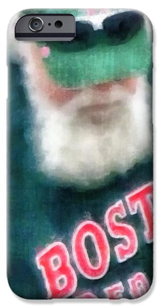 Red Sox iPhone Cases - Santa Claus Spotted at Spring Training iPhone Case by Edward Fielding