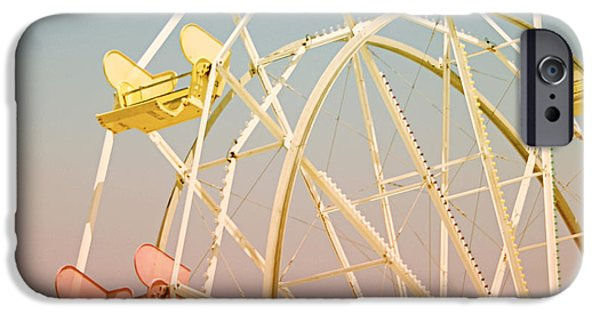 Amusements iPhone Cases - Santa Cruz Ferris Wheel iPhone Case by Linda Woods