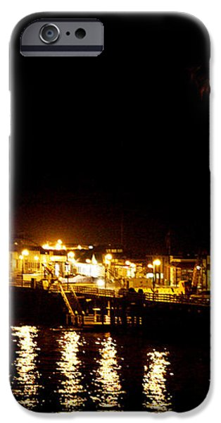 Santa Cruz Pier at Night iPhone Case by Marilyn Hunt