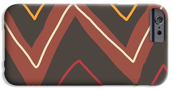 Earth Tones Tapestries - Textiles iPhone Cases - Santa Fe Design iPhone Case by Gregory Egan