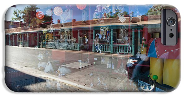 Facade iPhone Cases - Santa Fe Reflections iPhone Case by Roselynne Broussard