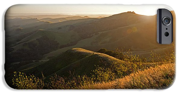 Cambria iPhone Cases - Santa Lucia Highlands Sunset iPhone Case by Kathy Yates