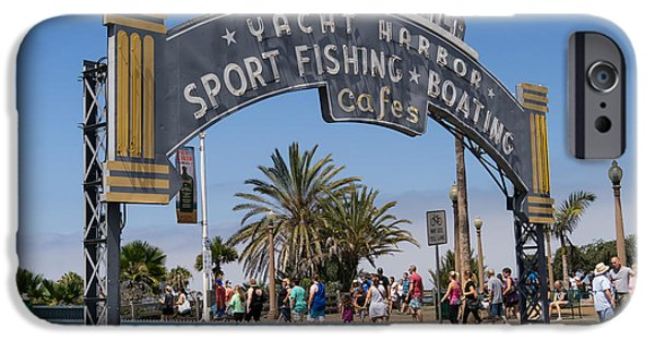 Rollercoaster Photographs iPhone Cases - Santa Monica Yacht Harbor at Santa Monica Pier in Santa Monica California DSC3669 iPhone Case by Wingsdomain Art and Photography