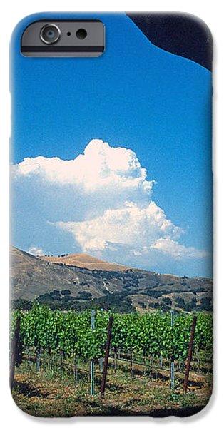 Santa Ynez Vineyard View iPhone Case by Kathy Yates