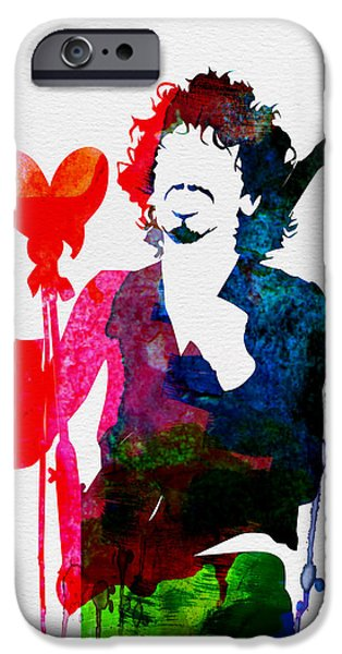 Classical Music iPhone Cases - Santana Watercolor iPhone Case by Naxart Studio