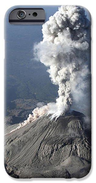 Santiaguito Ash Eruption, Guatemala iPhone Case by Martin Rietze