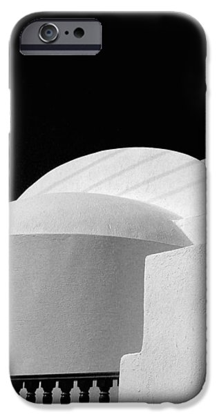 Shape iPhone Cases - Santorini Black and White iPhone Case by Julie Palencia