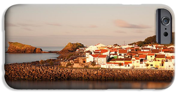 Village By The Sea iPhone Cases - Sao Roque at sunrise iPhone Case by Gaspar Avila