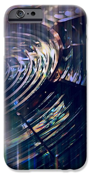 Night Lamp iPhone Cases - Sapphire Fresnel iPhone Case by Evie Carrier