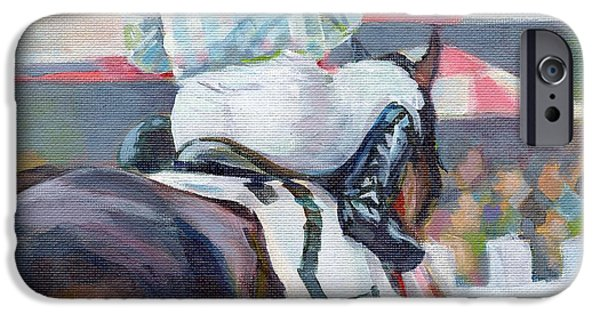 Horse Racing iPhone Cases - Saratoga Stripes iPhone Case by Kimberly Santini