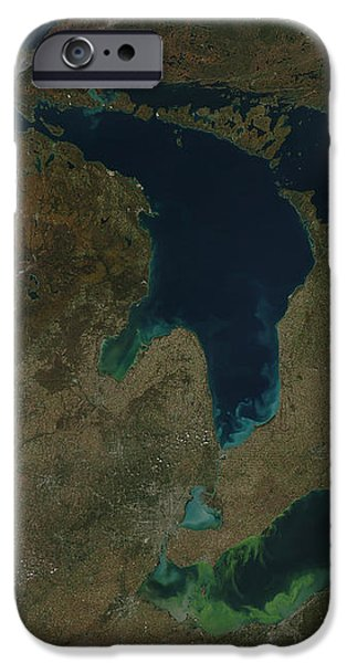 Satellite View Of The Great Lakes, Usa iPhone Case by Stocktrek Images