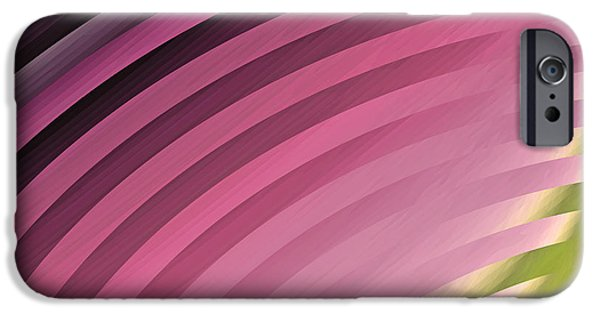 """geometric Art"" iPhone Cases - Satin Movements Pink II iPhone Case by Mindy Sommers"