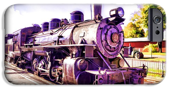 Abstract Digital Photographs iPhone Cases - Saturated Steam Train iPhone Case by Joe Geraci