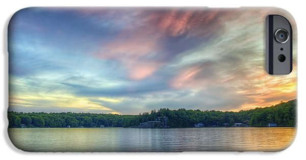 Canada Photograph iPhone Cases - Saturday Night in Muskoka iPhone Case by Phill  Doherty
