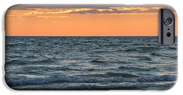 Beach Landscape iPhone Cases - Sauble Beach Sunset 2015 iPhone Case by Richard Andrews
