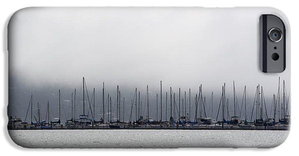 Sausalito Ca iPhone Cases - Sausalito Waterfront iPhone Case by Beth Sanders