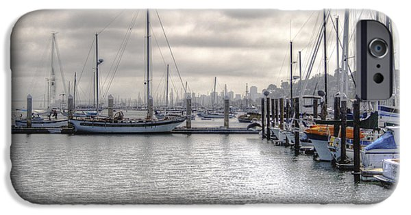 Sausalito Digital iPhone Cases - Sausalito Waterfront iPhone Case by Catherine Pearson