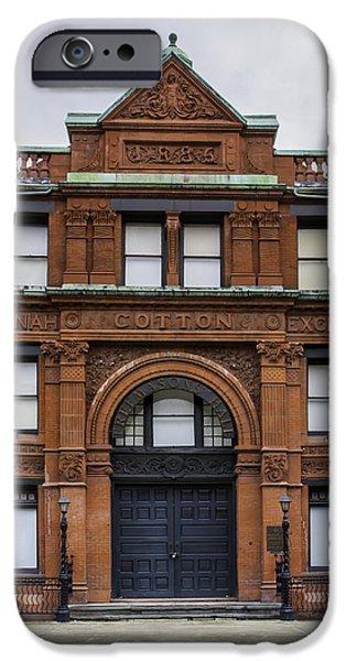 Facade iPhone Cases - Savannah Cotton Exchange #2 iPhone Case by Jamie Anderson