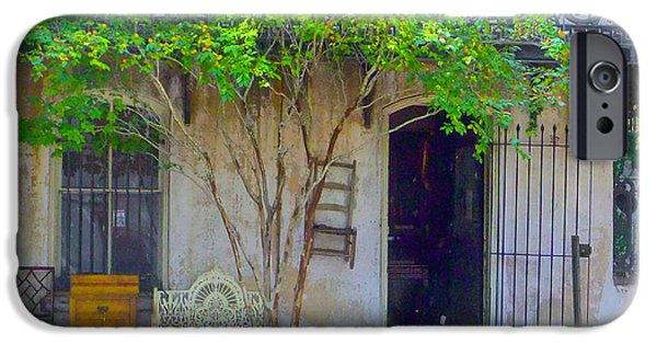 Furniture iPhone Cases - Savannah Street Shop iPhone Case by Tony Loeffler