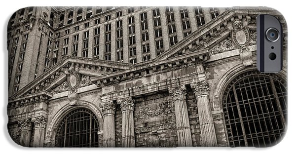 Detroit Digital iPhone Cases - SAVE THE DEPOT - Michigan Central Station Corktown - Detroit Michigan iPhone Case by Gordon Dean II